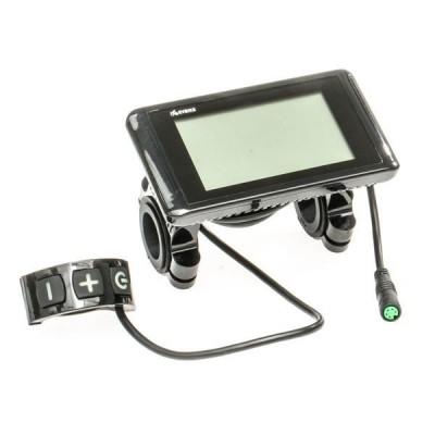LCD Displej C961 pro EVBIKE středový pohon 36/48V - plochý