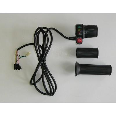 Otočný půl-plyn s indikací baterie, 48V