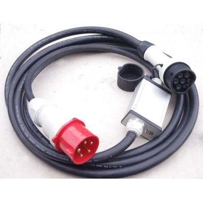 """Type2 """"mennekes"""" nabíjecí kabel 22kW 32A"""