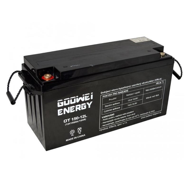 Pb záložní akumulátor VRLA GEL 12V 150Ah (OTL150-12)