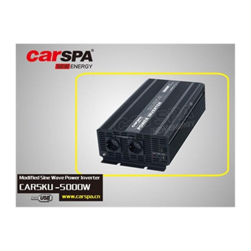 Měnič napětí Carspa 12V/230V+USB 5000W, modifikovaná sinus