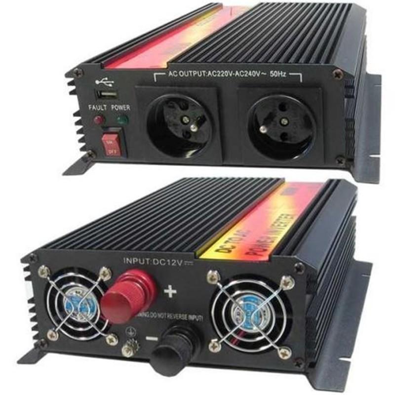 Měnič napětí Carspa 24V/230V 1600W, modifikovaná sinus