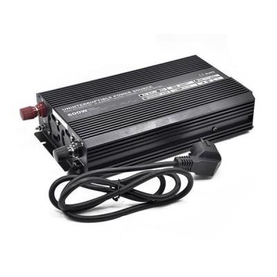 Měnič s nabíječkou 12V/230V 600W, 10A, USB, modifikovaný sinus