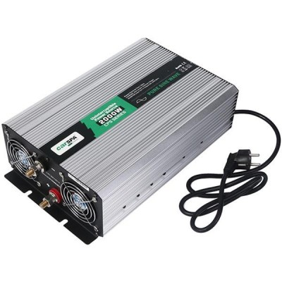 Měnič s nabíječkou 24V/230V 2000W, čistá sinus
