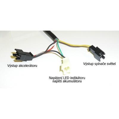Plynová páčka s indikací baterie, 36V