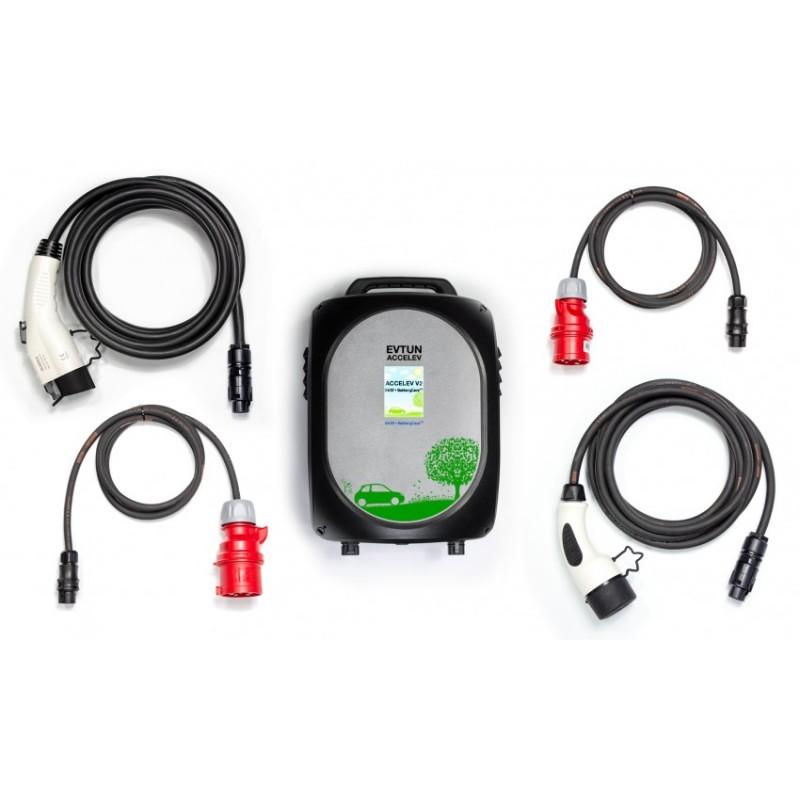 Accelev Type 1, Type 2 & Tesla US 2-phase charger 6kW & 8kW