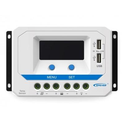 Solární regulátor PWM 12/24V, 30A, USB, vstup 50V