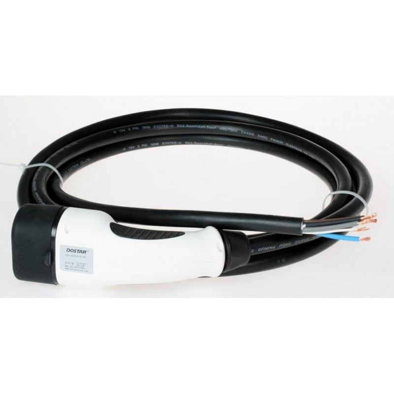 Type 2 Mennekes IEC62196-2 Car Plug-In 4m 16A