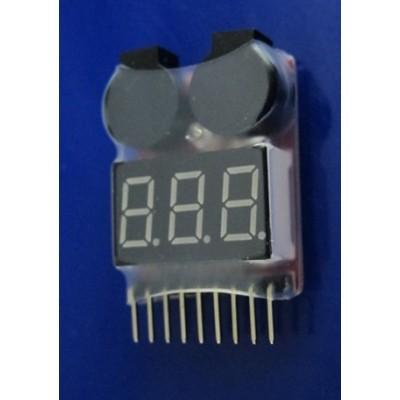 Bateriový monitor 1-8S Lipo/Li-ion/LiMn/Li-Fe