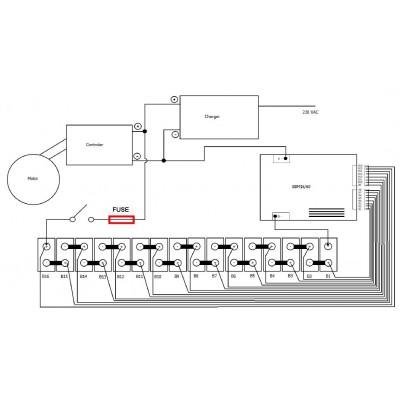 Simple Battery Management pro 16 článků (48V/60A)