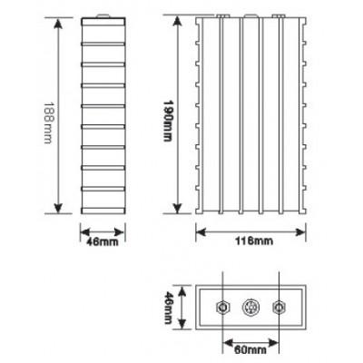 LFP akumulátor 3,2 V 40 Ah (LiFePO4)