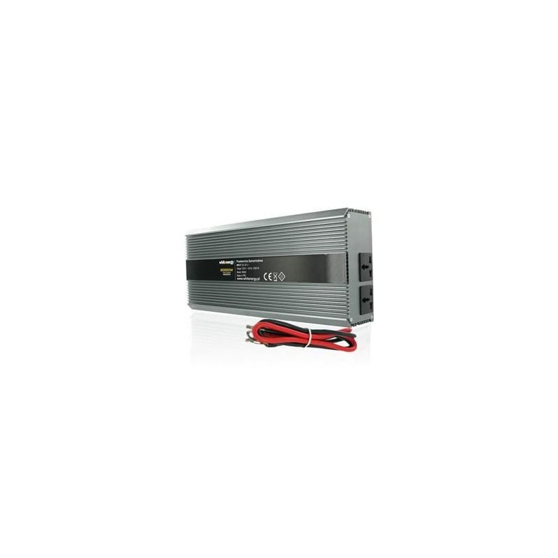 Měnič napětí DC/AC 24V / 230V, 2000W, 2 zásuvky